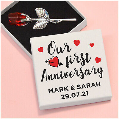 Romantic Our First 1st Anniversary PERSONALISED Gifts For Husband Wife Couples • 5.95£