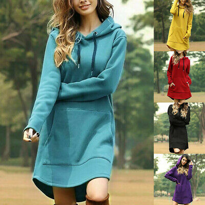$ CDN20.16 • Buy Sweater Tops Women Pullover Hoodie Dress Hooded Long Sleeve Jumper Sweatshirt