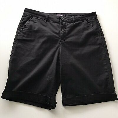 $15.99 • Buy NYDJ Black Bermuda Walking Shorts Size 8 Lift Tuck Not Your Daughters Jeans