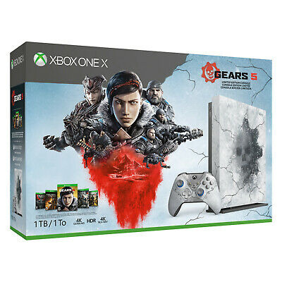 $449.99 • Buy NEW Microsoft Xbox One X 1TB Gears 5 Limited Edition Gaming Console Bundle White