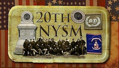 $5.50 • Buy 20th New York State Militia Civil War/ War Between The States Themed Patch