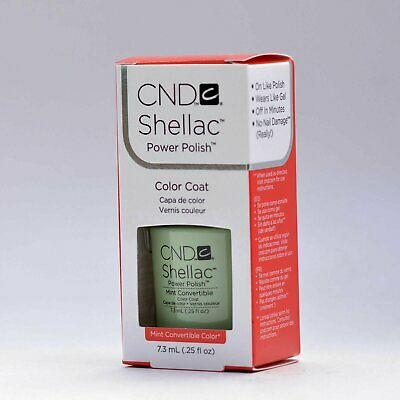 AU22.55 • Buy CND Nail Shellac UV Color Coat Mint Convertible .25oz