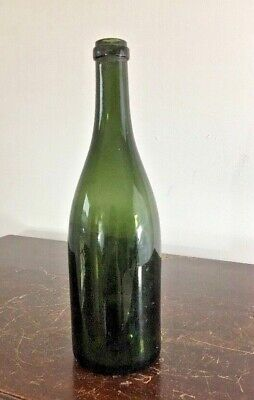 $99 • Buy Antique Blown Mold Olive Green Glass Wine Bottle