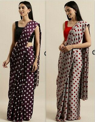 Indian Pakistani Saree Georgette Party Wear Wedding Traditional Sari Fancy SS • 19.99£