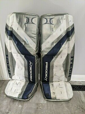 $209.99 • Buy Itech Prodigy 4.8 Hockey Goalie Leg Pads 36  Sr Senior Blue Silver White
