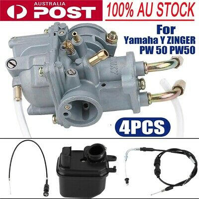 AU35.99 • Buy Carburetor+Air Filter Box+Choke Cable+Throttle Cable For Yamaha PW50 Mortor Sp