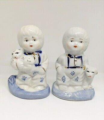 $ CDN22.84 • Buy French Collectible Blue/White Vintage Porcelain Boy Figurines