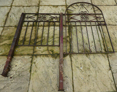 Metal Gate With Side Panel And Posts / Garden Gate / Gate / Metal Gate • 35£