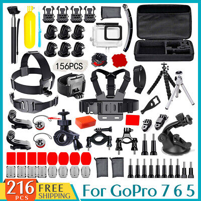 AU32.99 • Buy GoPro Hero8 7 6 5 Accessories Pack Case Chest Head Floating Monopod Housing Case