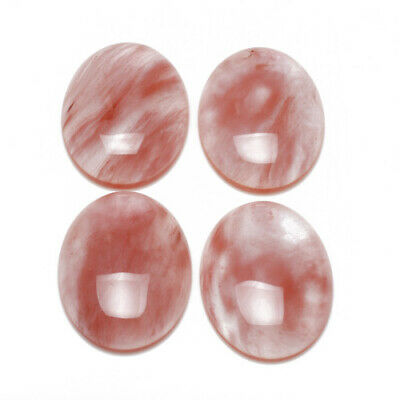 Cherry Quartz Cabochon Pink Oval Calibrated 18 X 25mm Pack Of 1 • 2.79£