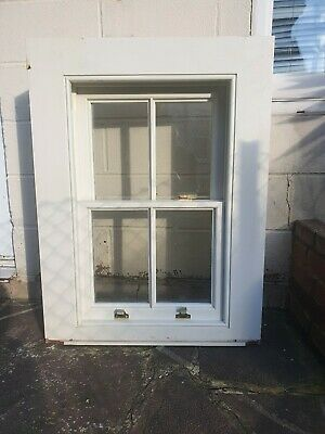 Sliding Sash Window Wooden Timbet Double Glazed 1000x752mm Hardwood • 400£