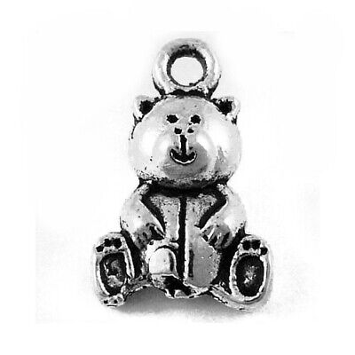 Teddy Bear Charm/Pendant Tibetan Antique Silver 16mm  20 Charms Accessory Crafts • 2.69£