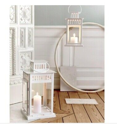 $19.99 • Buy BORRBY Lantern For Block Candle White Indoor/Outdoor White Wedding Party 17 ¼