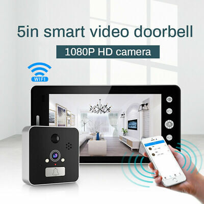 4.3/5 Inch Camera Doorbell HD Motion Detection Video Peephole Viewer Door Bell • 39.88£