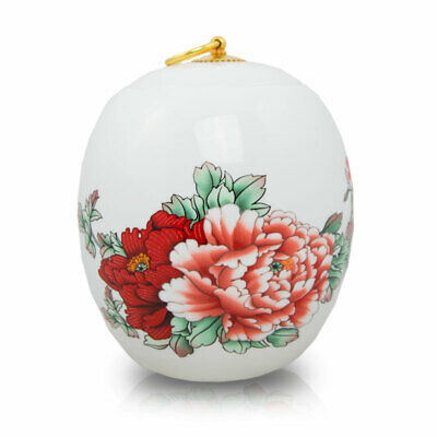 $49.95 • Buy Red Peony Ceramic Cremation Urn For Ashes - Large  White