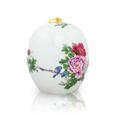 $39.95 • Buy Blue Bird Ceramic Cremation Urn For Ashes - Medium  White