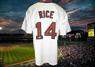 $ CDN83.44 • Buy Jim Rice  Autographed Custom White Boston Red Sox Jersey Jsa Authenticated