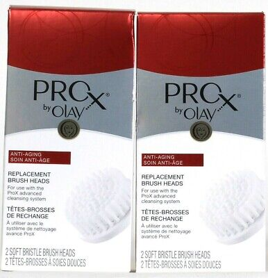 AU37.37 • Buy 4 Total Olay Pro X Advanced Cleaning Anti Aging Soft Bristle Brush Heads