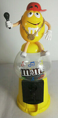 Collectable Sweet / Chocolate / Candy M&M Dispenser. Yellow Rapper / Pop Star • 10.49£