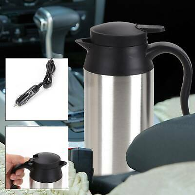 £20.59 • Buy Universal 750ML 12V ELECTRIC Silver KETTLE WATER CAR LORRY TRAVEL PORTABLE NEW