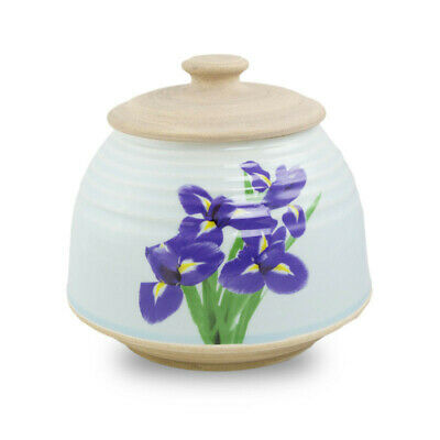 $49.95 • Buy Iris Bouquet Ceramic Cremation Urn For Ashes - Large  White
