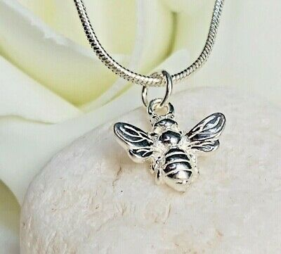 Elegant 925 Sterling Silver Solid Bumble Bee Jewellery Pendant Necklace Chain UK • 9.49£