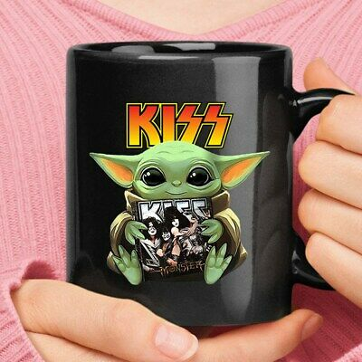 $10.95 • Buy Baby-yoda-hugs-kiss-monster-album-star-wars Coffee Mug