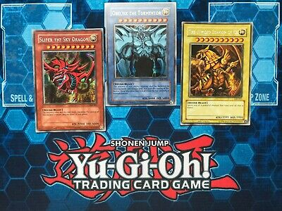 Yu-Gi-Oh! Egyptian Gods Set, GBI-001-003, Unlimited Ed, PARALLEL LIGHT PLAY • 400£