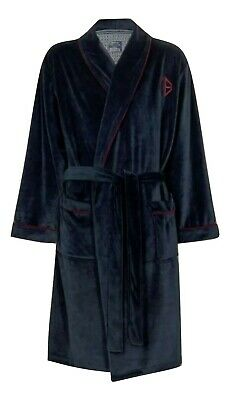 $69 • Buy Ted Baker New Men's  S/M Navy Maroon Dressing Gown Robe Dressed To Chill N
