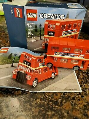 $ CDN33.17 • Buy LEGO 40220 Creator Double Decker London Bus RETIRED W Box & Manual EUC