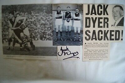 AU275 • Buy Richmond Tigers Lot Of 4 Various Collectable Ephemera Items Inc Signed Jack Dyer