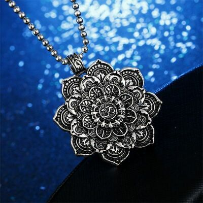 $ CDN10.84 • Buy Chain Necklaces Mandala Lotus Flower Pendant Men Women Necklaces Amulet Jewelry