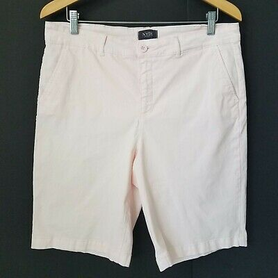 $18.66 • Buy NYDJ Not Your Daughters Jeans Shorts Pink Bermuda Lift X Tuck Tech Size 14