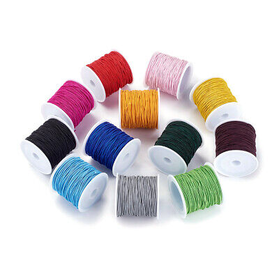 $ CDN26.94 • Buy 10 Rolls Round Elastic Cords Stretchy Jewelry Threads Colorful Thin Rope 1mm DIA