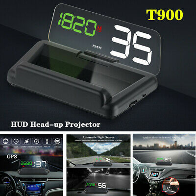 $61.99 • Buy T900 Car LED GPS Speed Water Temperature HUD Head-up Projector Universal Parts
