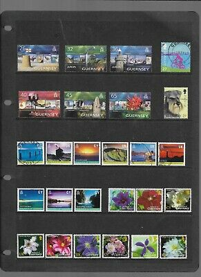 SALE -Guernsey - A4 Stockcard Of Modern Issues - Used & 1 Set Is MNH - 25p Start • 0.25£