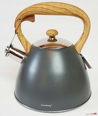 Whistling Kettle 3 L Stove Top  Induction Gas Ceramic Electric   Grey • 22.50£