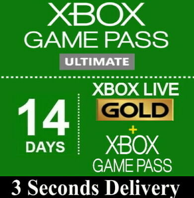 $2.99 • Buy Xbox LIVE 14 Day GOLD + 14 Day Game Pass, XBOX GAME PASS  ULTIMATE Instant Code