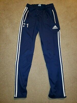 $ CDN1.39 • Buy Adidas Athletic Pants Sweatpants Mens Sz Small S Navy Blue Soccer #21 Tapered