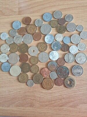 Job Lot Old British Europe World Coins Mixed Unsorted Foreign Lot  • 3.99£