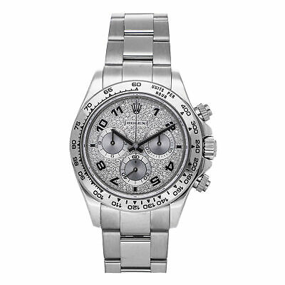 $ CDN49276.70 • Buy Rolex Daytona Auto 40mm White Gold Diamonds Mens Bracelet Watch Chrono 116509