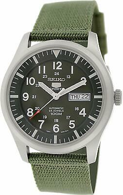 $ CDN229.19 • Buy Seiko 5 Sports SNZG09K1 Military Style Khaki Green Mens Watch SNZG09K