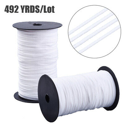 $ CDN35.37 • Buy 2 Rolls Round Nylon Elastic Cords Soft Stretch Tie Threads Band Rope White 2mm