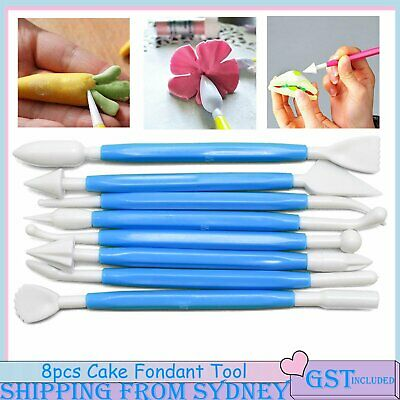 AU5.85 • Buy 8pcs Fondant Cake Flower Decorating Clay Sugarcraft Modelling Cutter Tool Blue A
