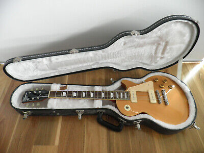 AU900 • Buy Les Paul Gold Top P90 Electric Guitar Gibson Hard Case Gotoh Locking Edwards ESP