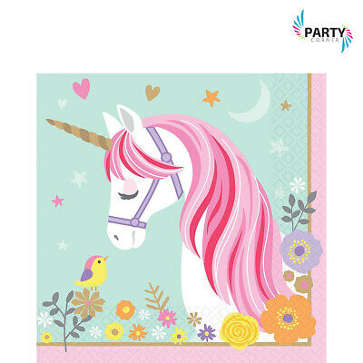 AU6.90 • Buy Unicorn Party Supplies LUNCH NAPKINS Pack Of 16
