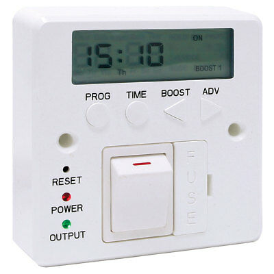 3kW Fused Spur Timer 7 Day Switch Digital LED Lighting Storage Immersion Heating • 31.95£