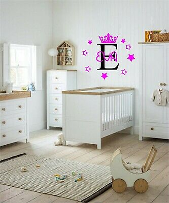 Personalised Name Wall Art Sticker Letter Baby Girls Bedroom Nursery Decal Cot • 6.50£