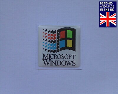 Microsoft Windows 25 X 25mm 1  Domed PC Case Badge Logo Decal NT 3.1 95 98 • 3.75£