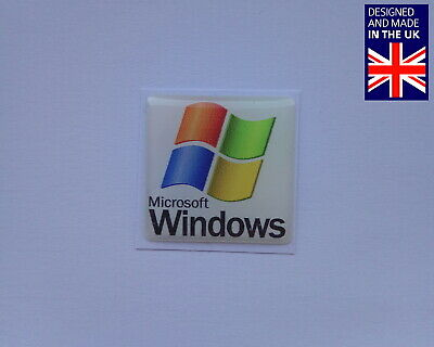 Microsoft Windows 25 X 25mm 1  Domed PC Case Badge Logo Decal XP Vista 7 8 • 3.75£